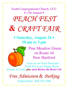 2013 Peach Fest Color Poster